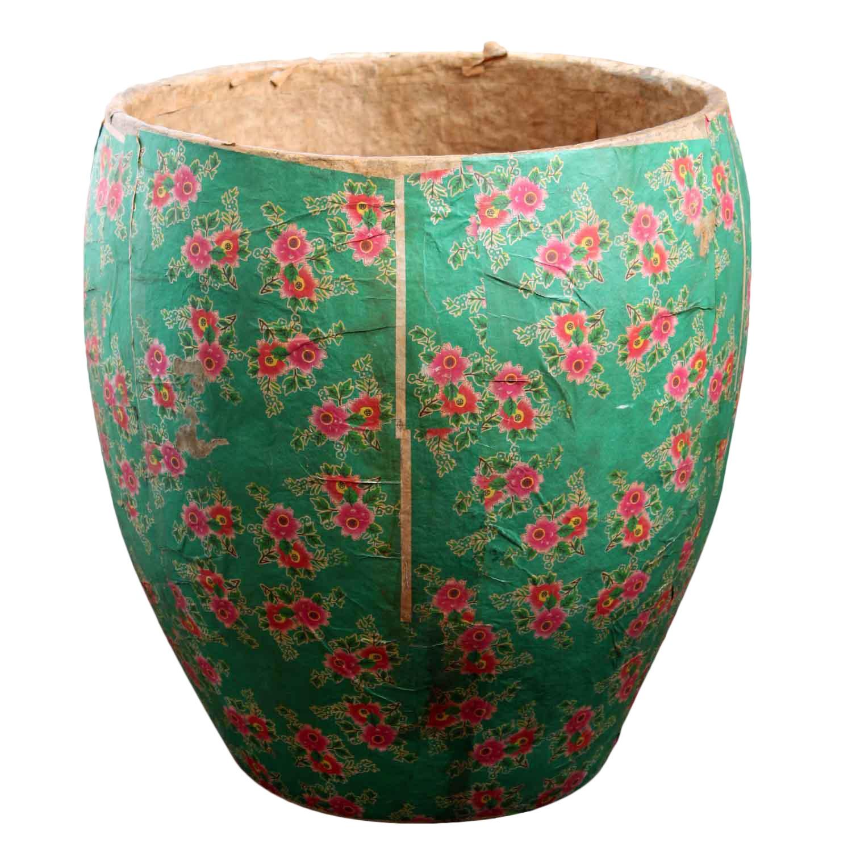 Chinese Papier Mch Pot Chairish