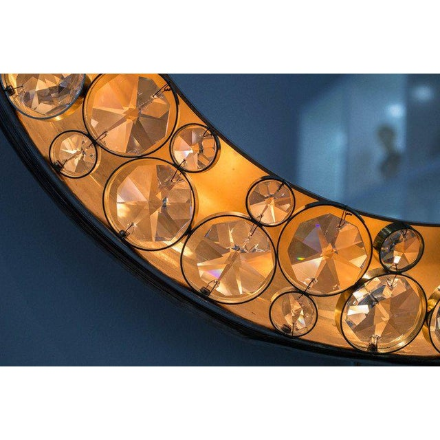 Gold 1960s Palwa Illuminated Mirror For Sale - Image 8 of 10