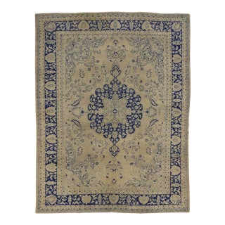 Semi-Antique Turkish Oushak Rug with Chinoiserie Chic Style For Sale