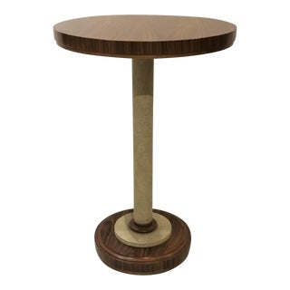 Hickory Chair Shagreen & Wood Accent Table