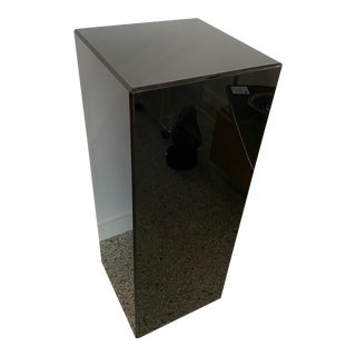 """Vintage Pedestal Black Lucite 36"""" High 14 X 14 For Sale"""