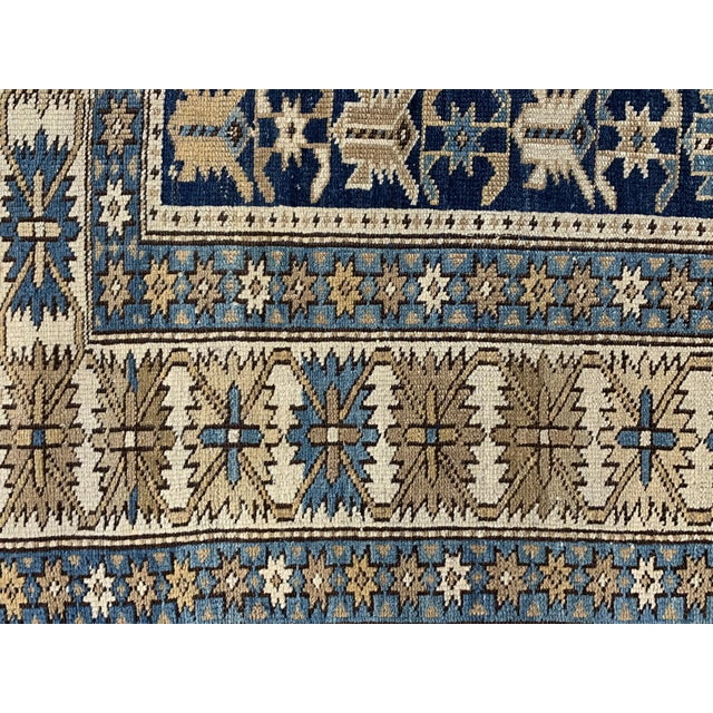 Late 19th Century Antique Russian Caucasian Rug- 3′10″ × 5′3″ For Sale In Nashville - Image 6 of 11