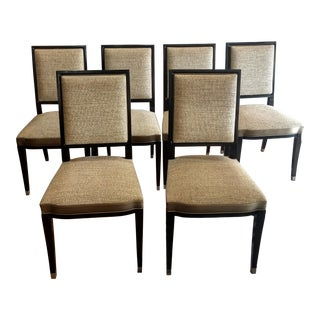 English Traditional Roche Bobois Grand Hotel Dining Chairs - Set of 6 For Sale