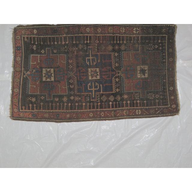 "Leon Banilivi Kazak Brown Wool Rug - 5'6"" X 3'2"" - Image 4 of 7"
