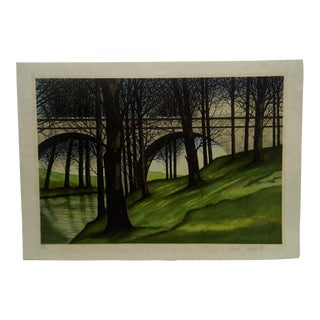 "Late 20th Century Vintage ""Under the Bridge"" Print by Jayur Derper For Sale"