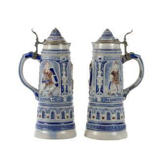 Pair of 19th Century German Beer Stein For Sale
