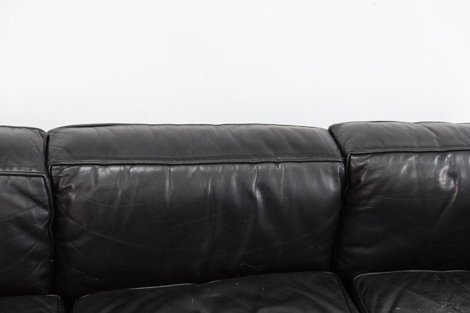 Le Corbusier LC2 Black Leather Sofa. Unsigned, Unsure Of Originality But It  Is Vintage
