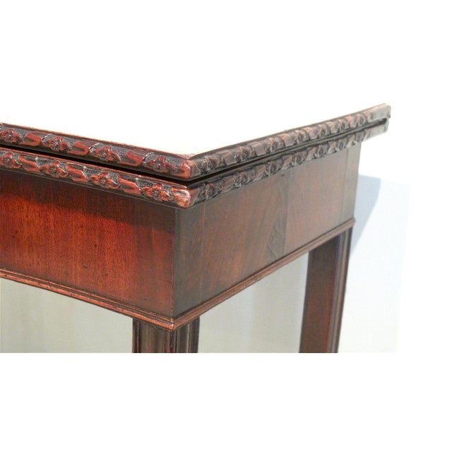 18th Century George III Mahogany Serpentine Front Game Table - Image 6 of 10