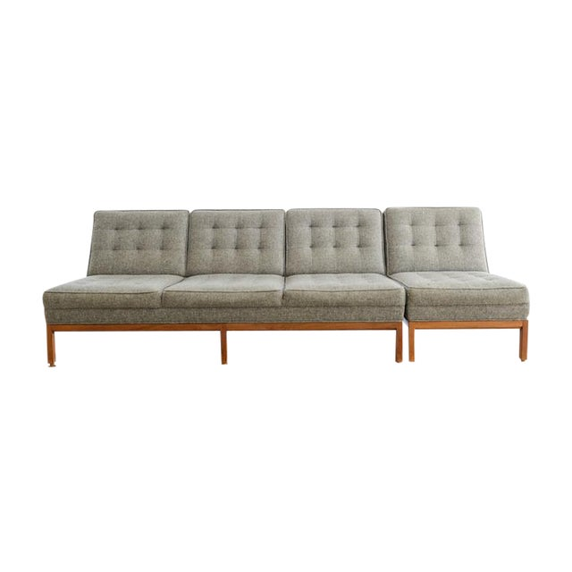 Custom Gray Modern Sofa - Image 1 of 7