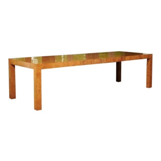 Outstanding Extension Dining or Conference Table in Bookmatched Olivewood For Sale