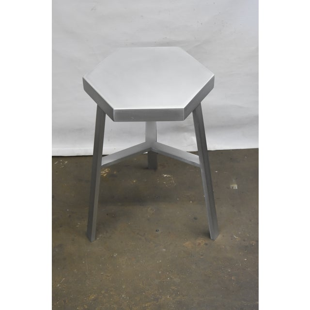 Oblik Aluminum Low Stool For Sale - Image 4 of 4