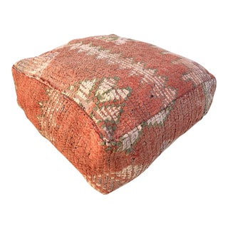Moroccan Red Unstuffed Boujaad Pouf For Sale