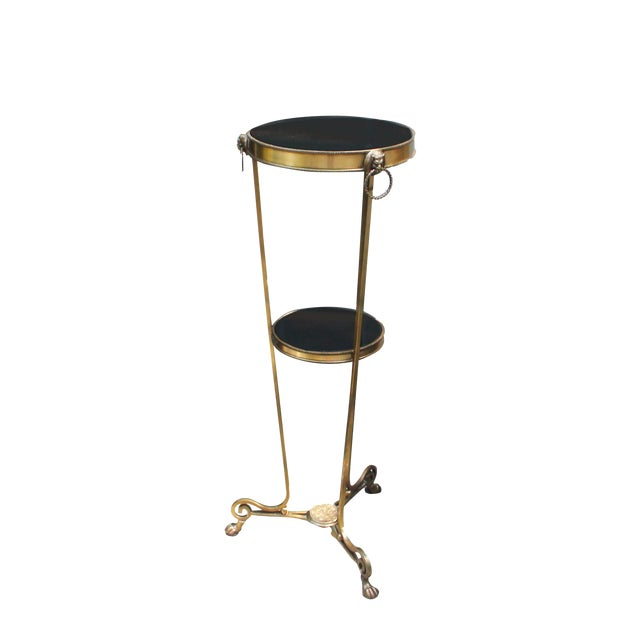 Bronze & Marble Regency Style Pedestal For Sale