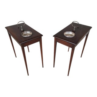 Hepplewhite Mahogany Pipe Smokers Tables - a Pair For Sale