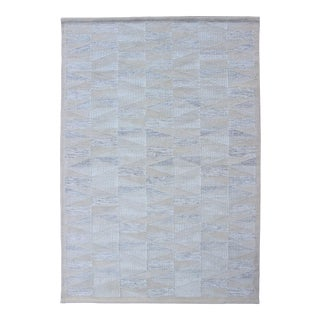 Modern Design Scandinavian Flat-Weave Rug in Gray, Tan, Taupe and Cream For Sale