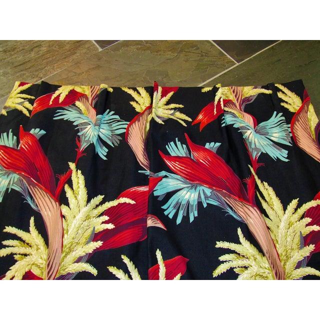 1930s 1930's Tropical South Beach Vintage Barkcloth Fabric Drape For Sale - Image 5 of 13