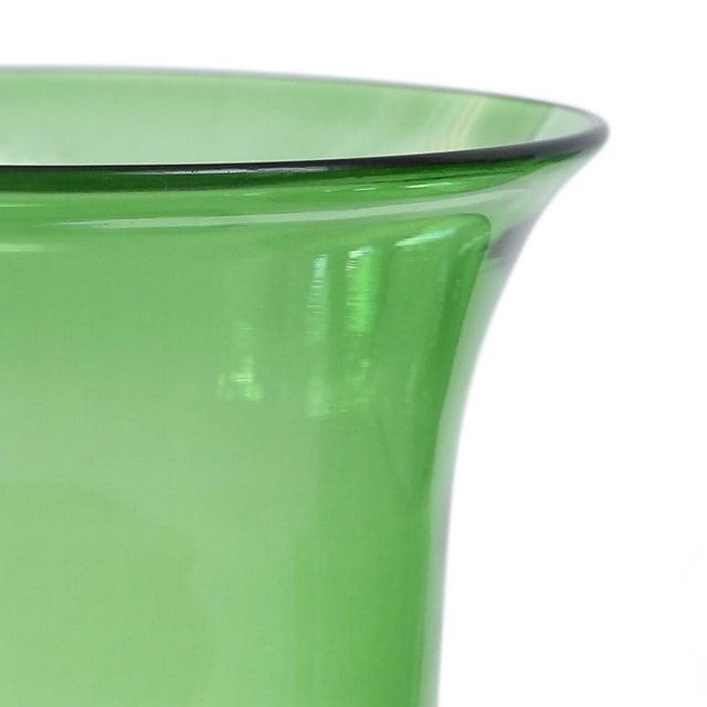 Italian Italian Green Glass Vase For Sale - Image 3 of 6