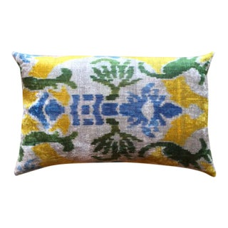 Brightly Colored Pillow Made From Soft Silk Thread For Sale