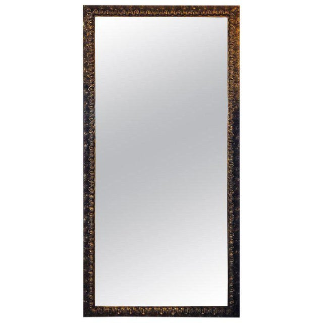 Gold Neoclassical Monumental Gilt Gold Shell Carved Floor Mirror For Sale - Image 8 of 8