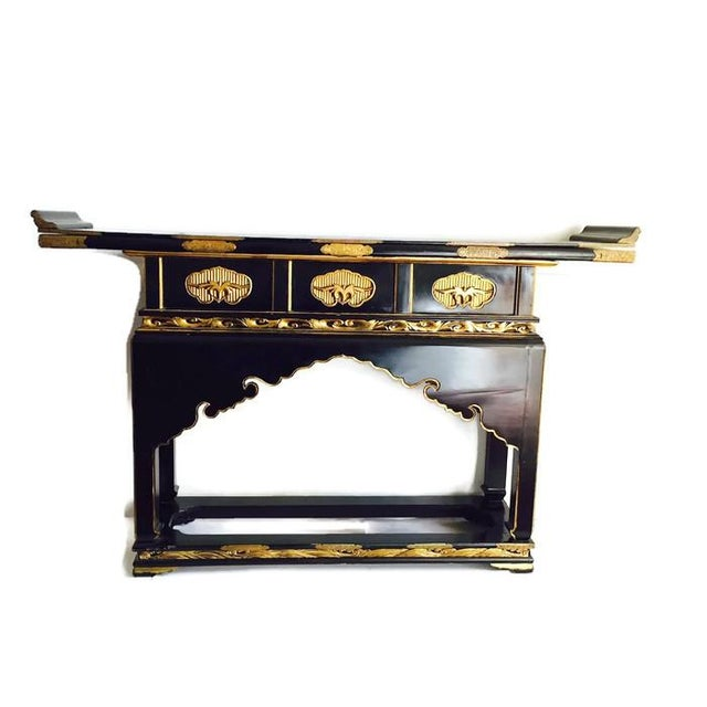1930's Chinese Temple Table Chinoiserie Console - Image 5 of 10