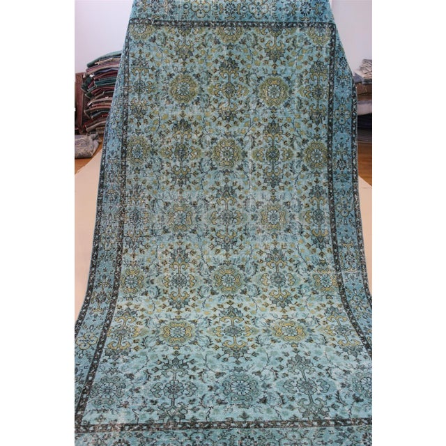 Turquoise Over-Dyed Rug - 5′5″ × 9'8″ - Image 9 of 10