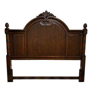 Late 20th Century West Indies Style King Size Headboard For Sale