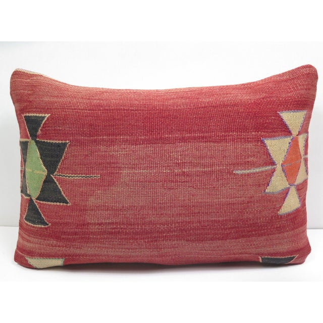 Vintage Turkish Kilim Pillow Cover - Image 2 of 3