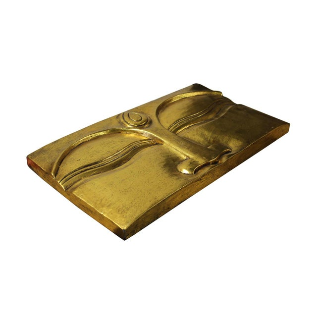 Buddha's Eye Of Wisdom Gold Wood Craving Wall Decor For Sale - Image 5 of 5