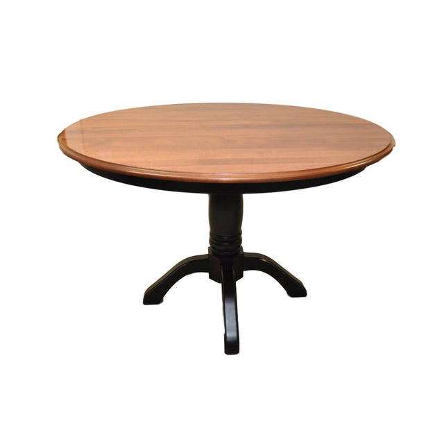 Shermag Round Pedestal Dining Table For Sale