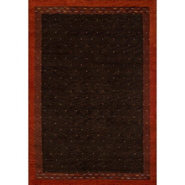 "Contemporary Momeni Desert Gabbeh Hand Knotted Brown Wool Area Rug - 5'3"" X 8' For Sale In Atlanta - Image 6 of 6"