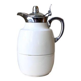 1960s Mid Century Modern Alfi Juwel White Thermal Carafe