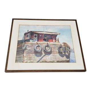 "Harold Herman ""M.E. Closson of New York"" Original Watercolor Painting C.1960s For Sale"