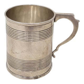 Antique Sterling Silver Christening Cup W/ Hallmarks For Sale