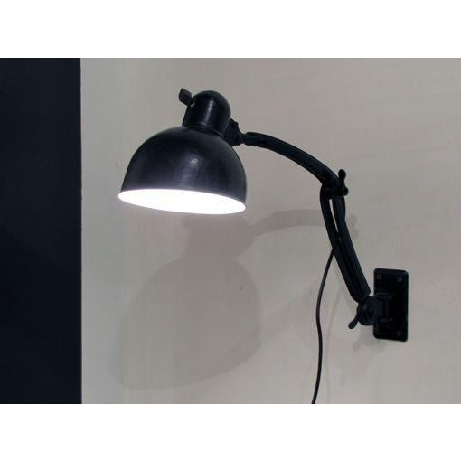Black Wall Task Lamps by Christian Dell for Kaiser & Co. c. 1929 - A Pair For Sale - Image 9 of 10