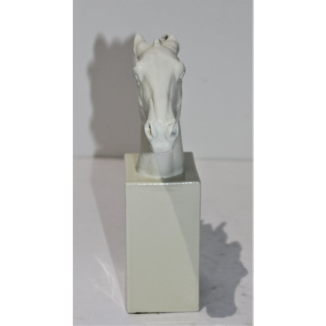 1930s Vintage 1930s-1940s Horse Sculpture White Porcelain For Sale - Image 5 of 13