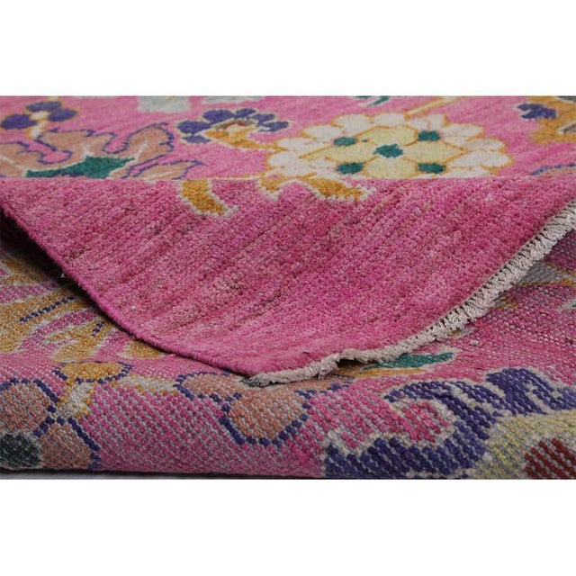 """Traditional Traditional Handwoven Turkish Oushak Rug - 8'2""""x10'7"""" For Sale - Image 3 of 12"""