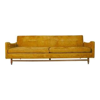1960s Mid-Century Modern Gold Velvet Sofa
