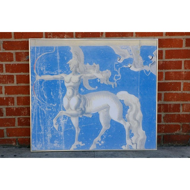 Blue Large William Haines Canvases Drawing For Sale - Image 8 of 10