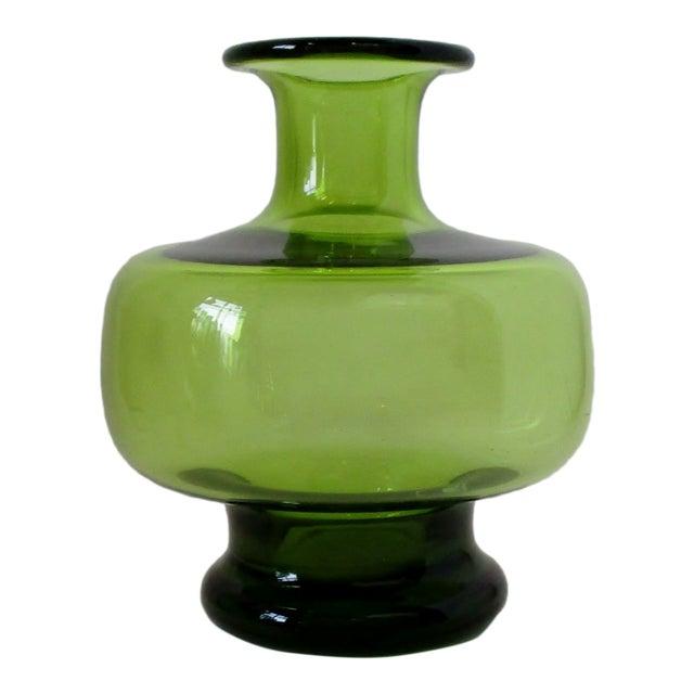 Holmegaard Green Glass Vase For Sale