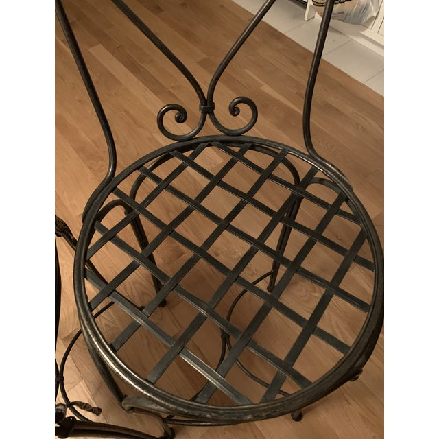 Wrought Iron Barstools - A Pair For Sale In Philadelphia - Image 6 of 9