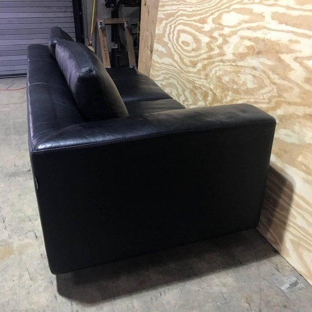 Roche Bobois Black Leather Sectional Sofa | Chairish