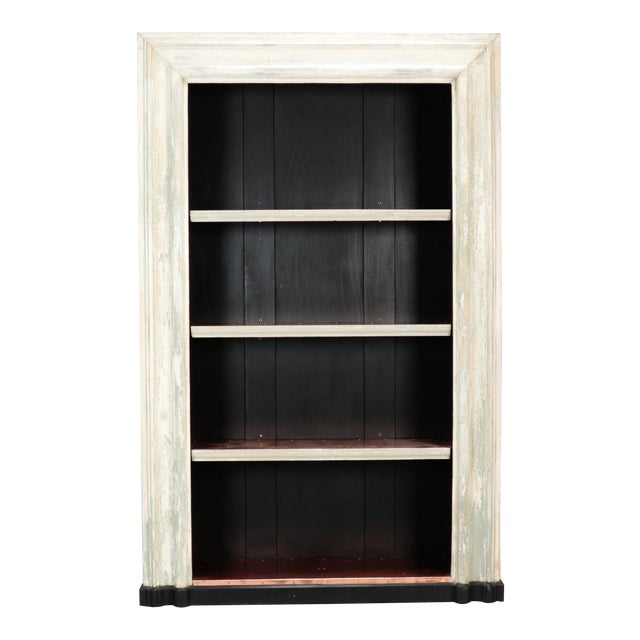 19th Century Door Frame Bookcase with Copper Lined Shelves For Sale