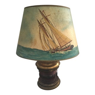 1930s Vintage Nautical Table Lamp For Sale
