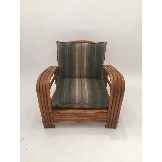 Beautiful mid-century J.B. Van Sciver Co lounge rattan pretzel chair with original cushions the wood could need some...