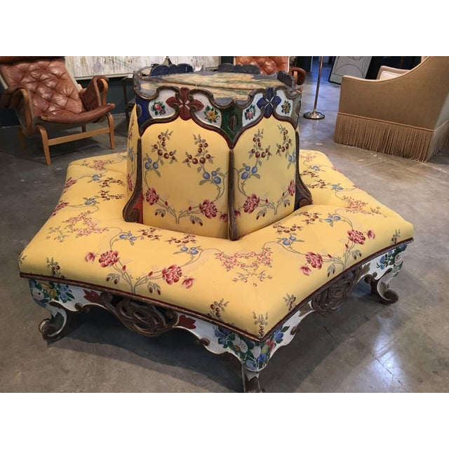 Paint Exceedingly Rare Pair of Upholstered and Handpainted Sicilian Late 18th Century For Sale - Image 7 of 8