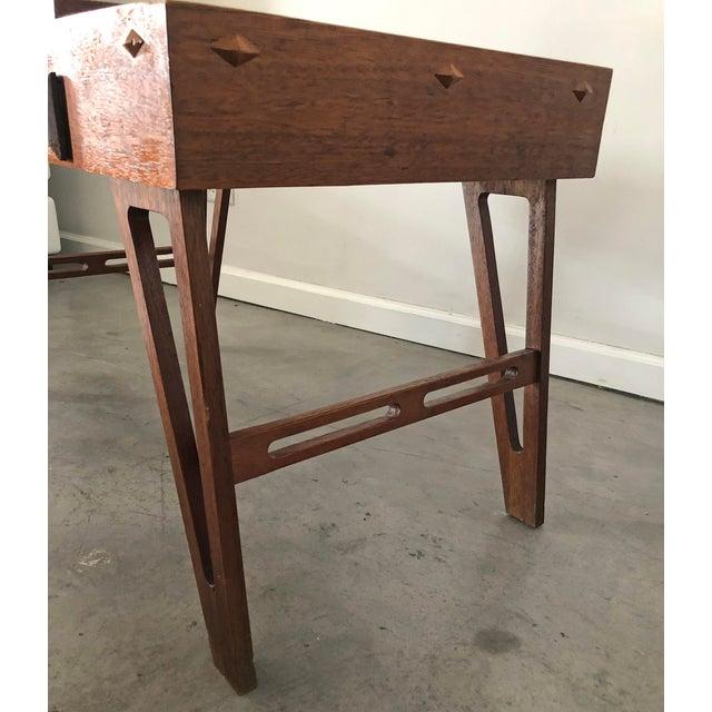 Wood Mid Century Danish Modern Teak Game Table For Sale - Image 7 of 9