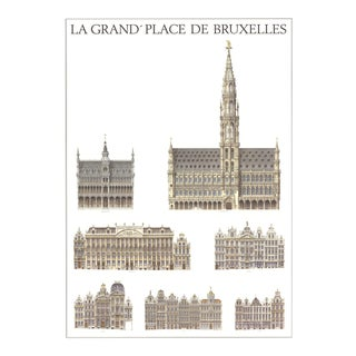 Bruxelles, La Grande Place, Offset Lithograph For Sale