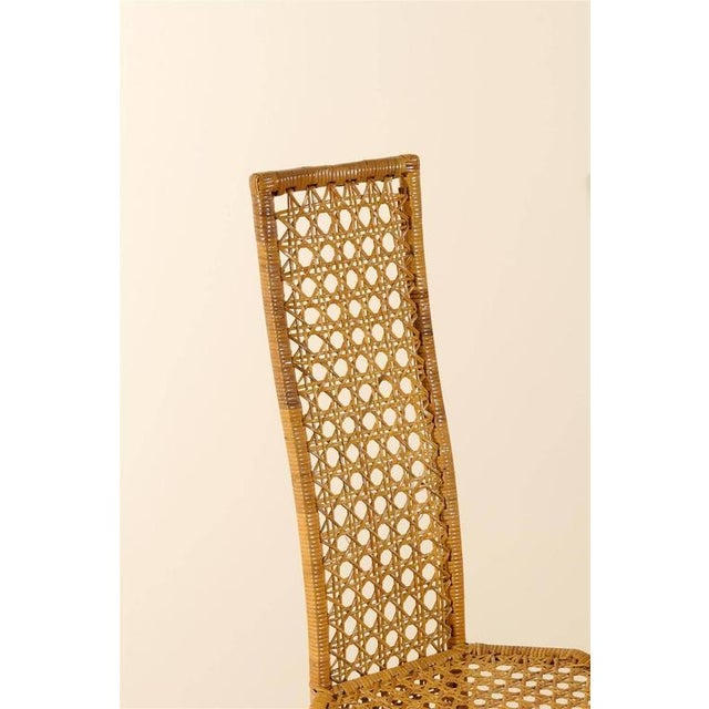 Fabulous Set of Twelve Rattan Dining Chairs by Danny Ho Fong For Sale In Atlanta - Image 6 of 11