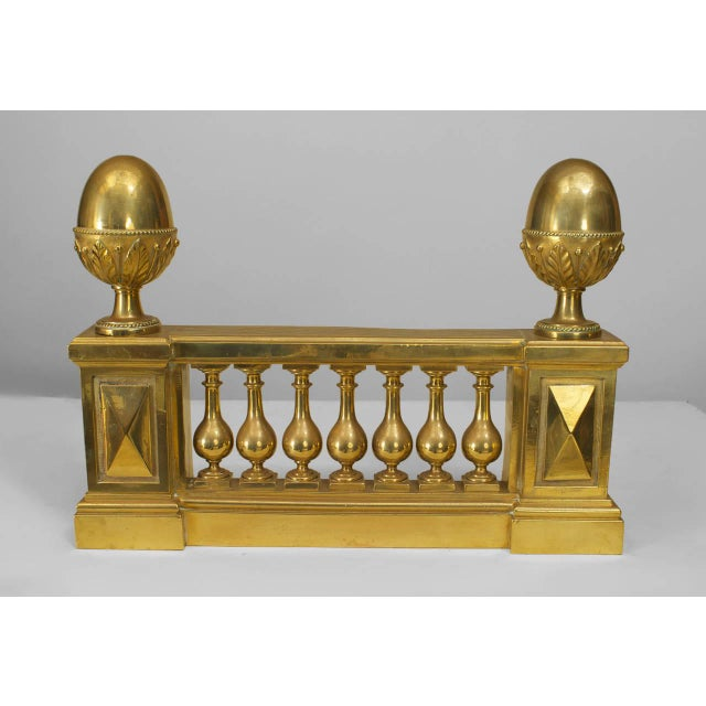 Georgian Pair of Adam Style Architectural Andirons For Sale - Image 3 of 3