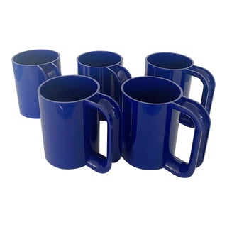 1970s Modern Massimo Vignelli for Heller Mugs - Set of 5 For Sale